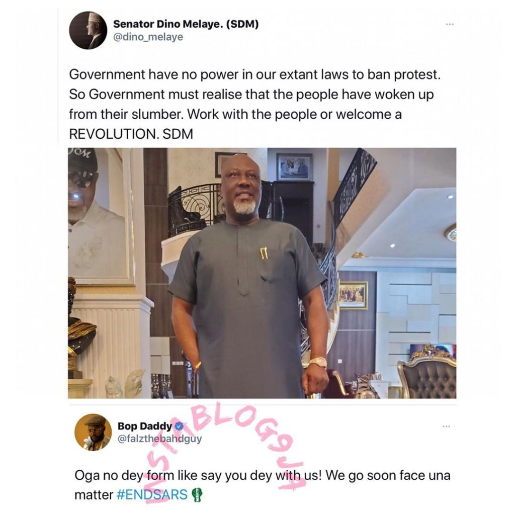 Rapper Falzthebahdguy bursts  Senator Dino Melaye's new-growing bubble with very minimal effort