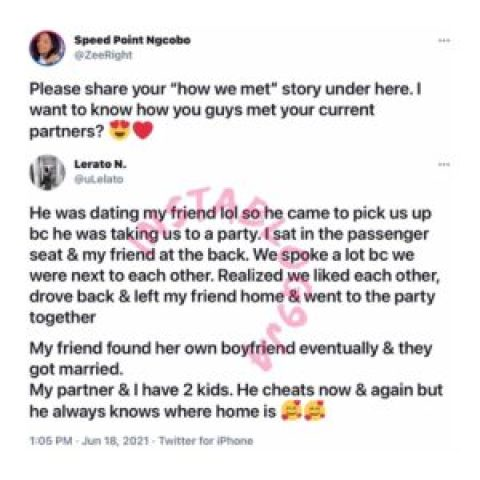 Lady reveals how she met her husband