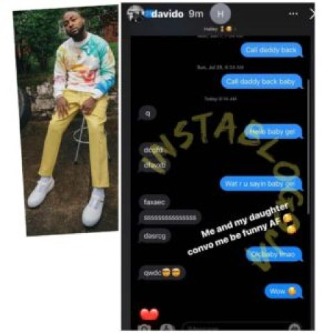 Singer Davido shares the conversation he had with his 4-year-old daughter, Hailey