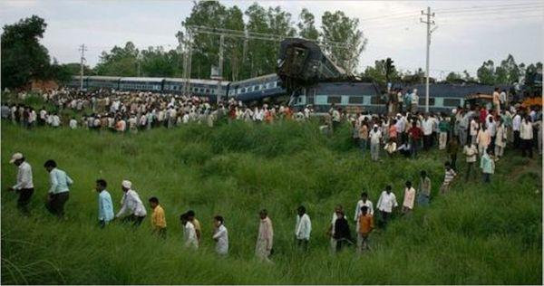 Kalka mail disaster; 70 killed