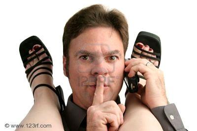 284995 a man having an office affair answering his