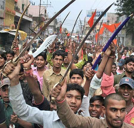 bajrang dal activists 20081014 QYBTx 18265