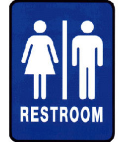bathroom sign wvrYo 19278