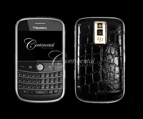 blackberry bold croco black leather 24k yellow gol