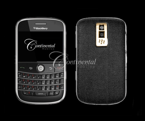 blackberry bold denim 24k yellow gold luxury mobil