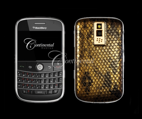 blackberry bold snakeskin 24k yellow gold luxury m