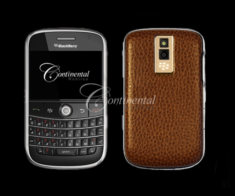 blackberry bold tan leather 24k yellow gold luxury