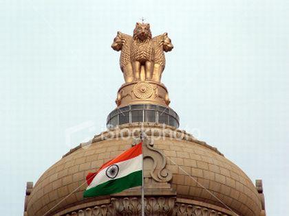 indias national flag fluttering high 6439