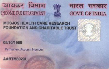 pan card sole identity card 26
