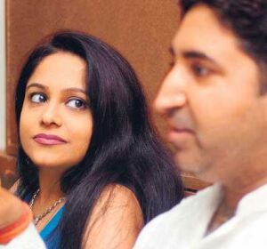preeti jain and roda at a press conference