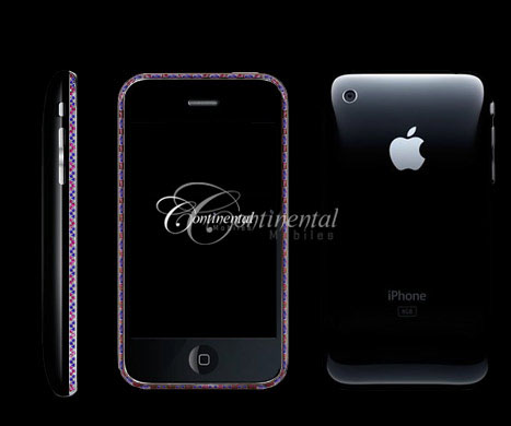 sapphire ruby apple 3g iphone 16gb black luxury mo