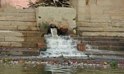 sewage in indian rivers