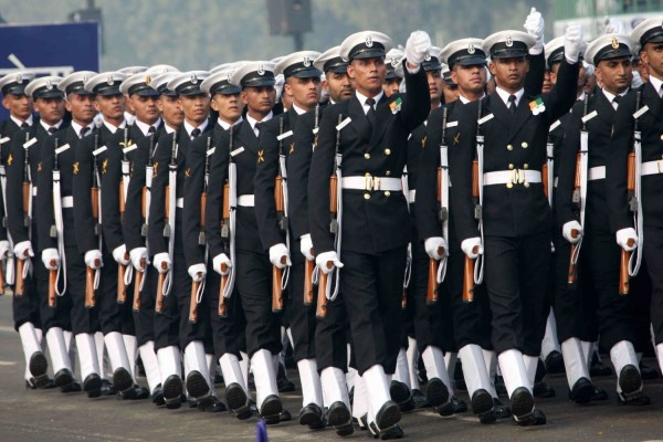 Indian Navy march-past
