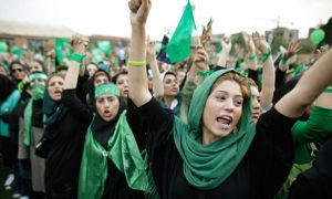 Supporters of Mir-Hossein Mousavi