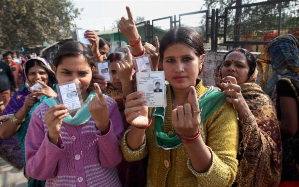 Voting for Delhi Assembly