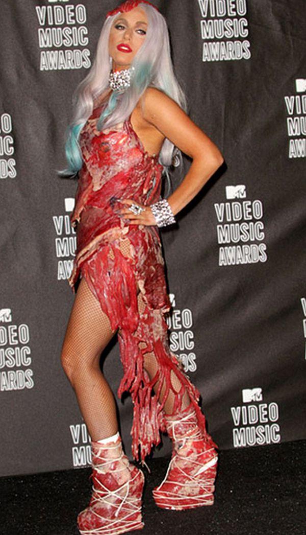 lady gaga in meat dress