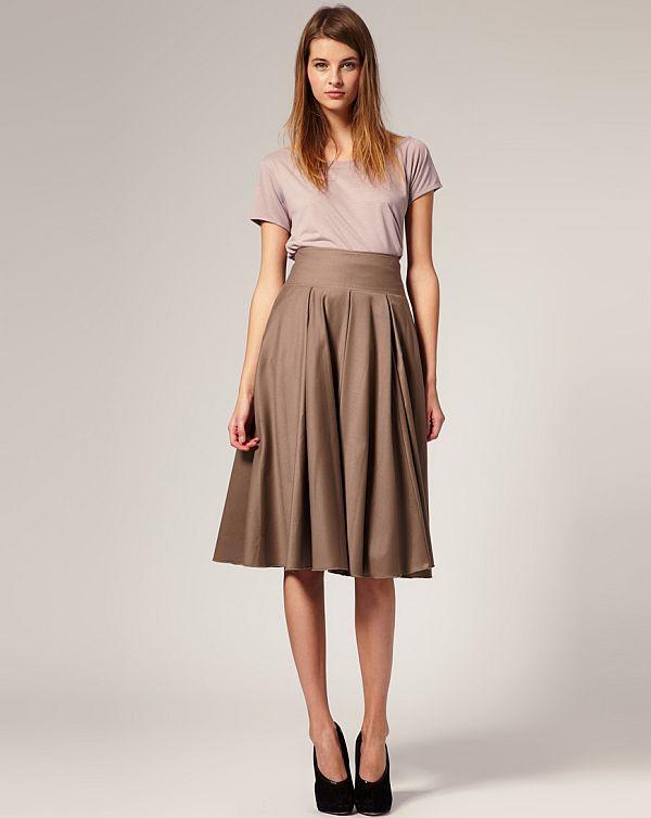calf length skirts,