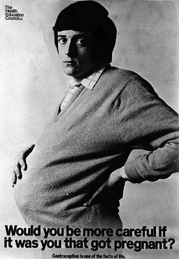 Pregnant man poster