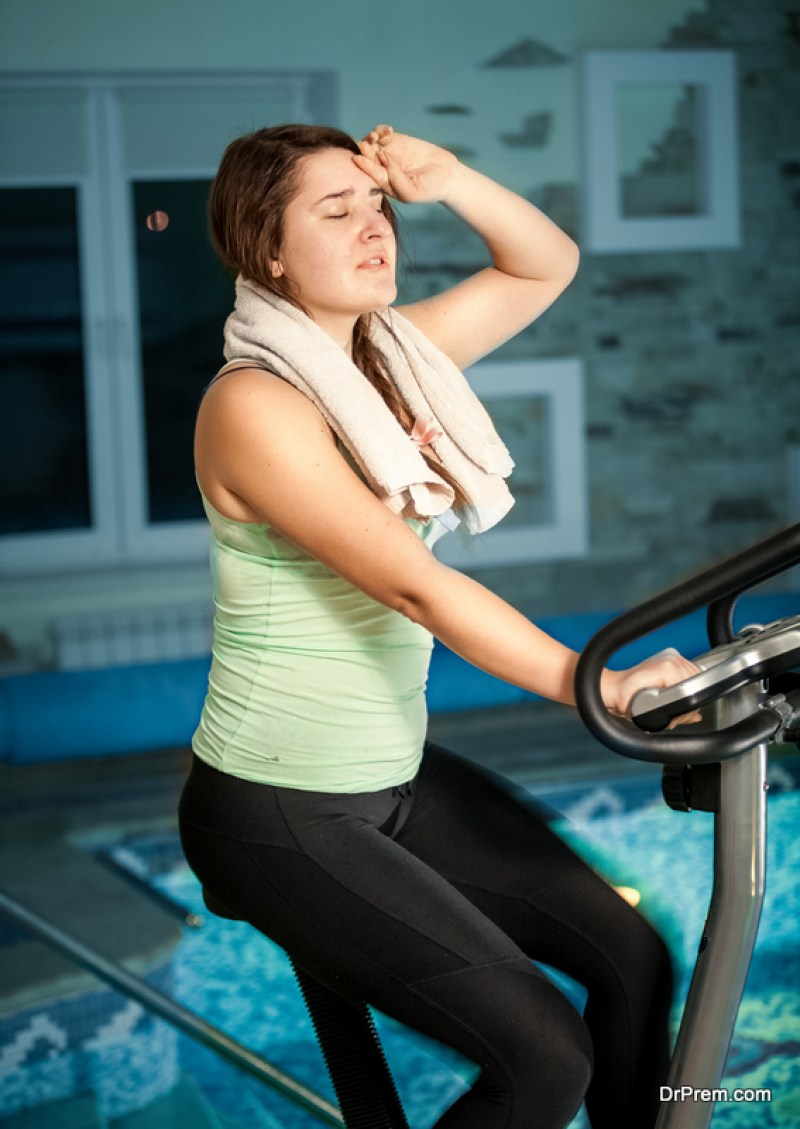 so hard to exercise at higher temperatures