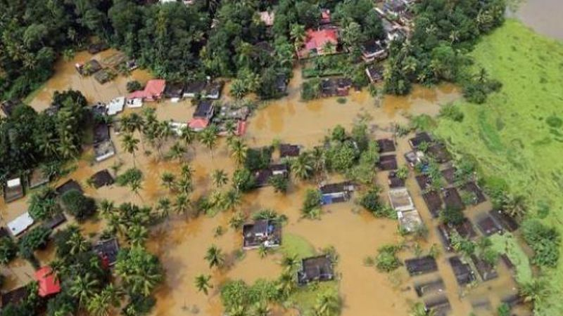 kerala flood destruction