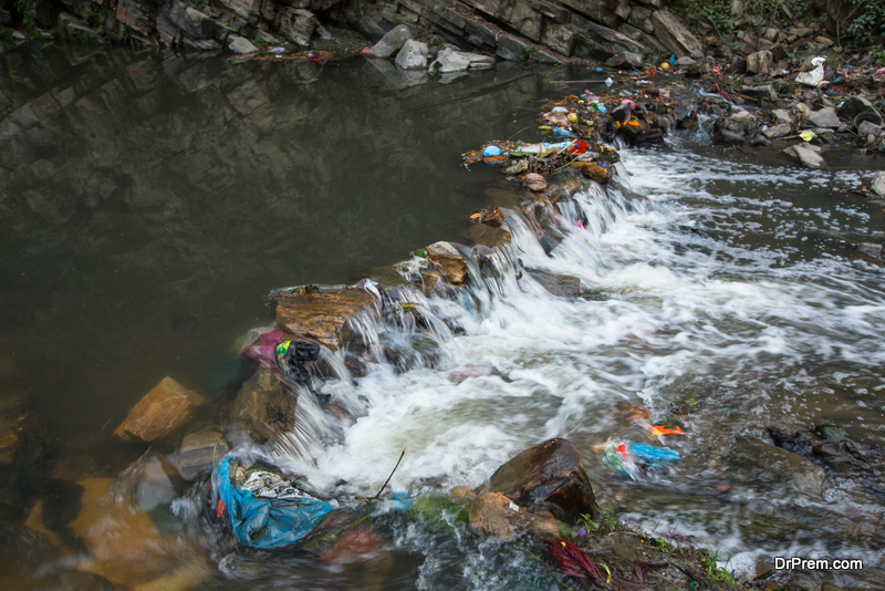 Pollution promptly gets into the rivers