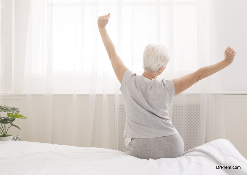 middle age woman wake at the crack of dawn