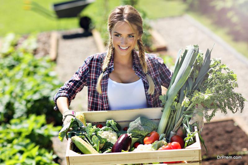 woman gardening hobby