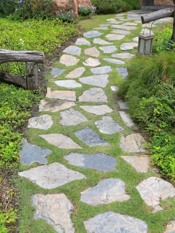 home and building sidewalk walkway