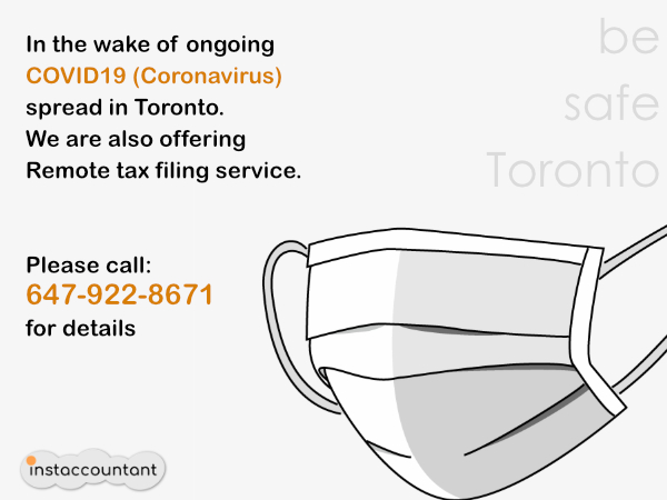 Remote tax filing service as COVID19 spreads in Toronto
