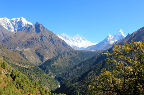 Last glance towards the Everest