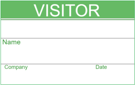 Best Visitor Badge Templates For Office Visitors InstaCheckin - Visitor badge template