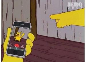 simpsons pokemon go fake hoax