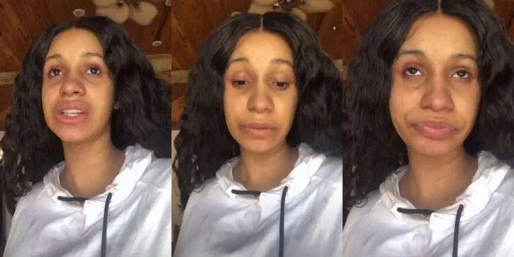 cardi b makeup-free