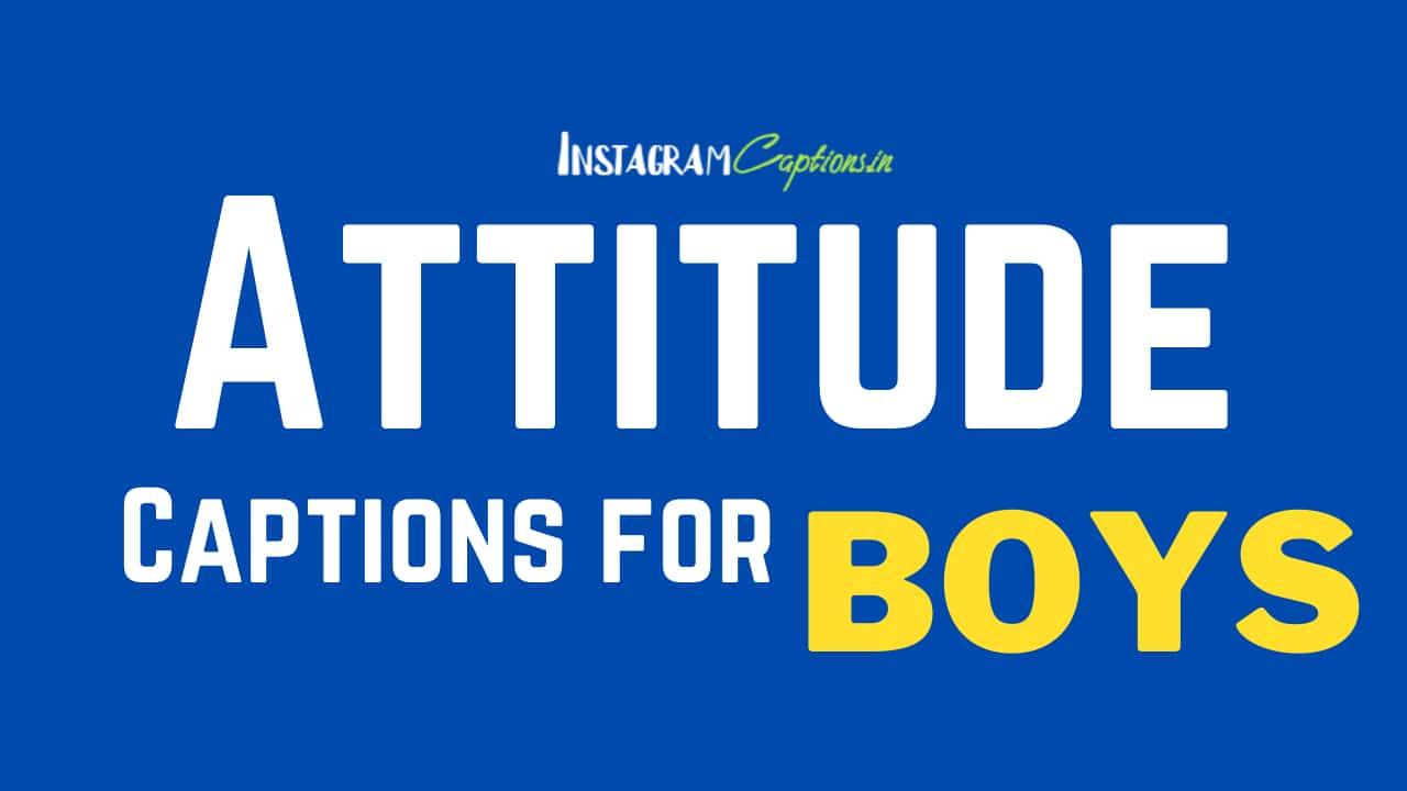 Attitude Captions for Boys