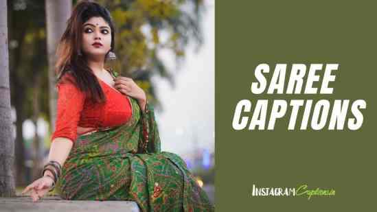 Saree Captions for Instagram
