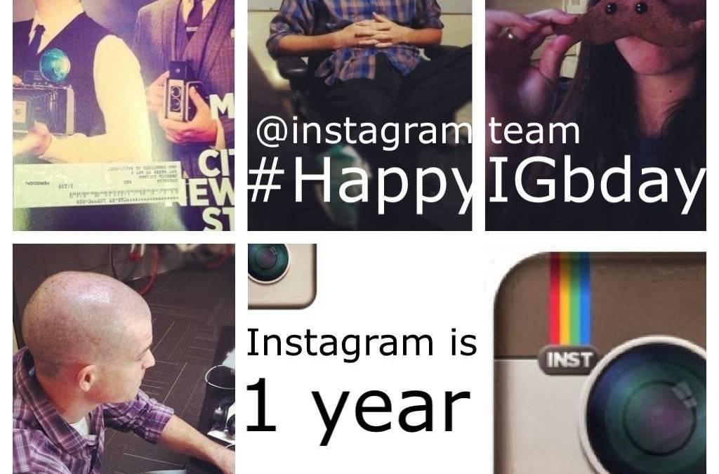 Feliz cumpleaños Instagram # happyIGbday