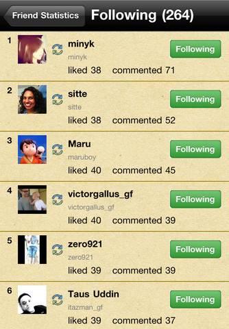 InstagramFrManager Tus estadísticas y amigos en Instagram