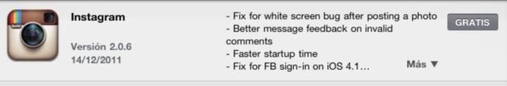 Instagram 2.0.6 new release available