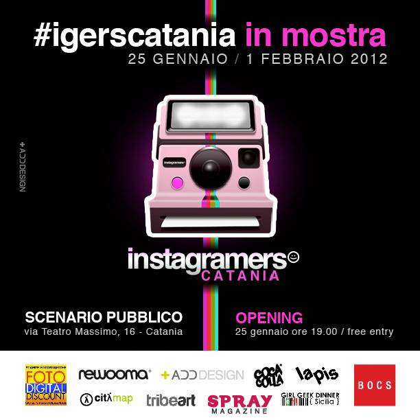 First exhibition of Instagramers Catania, Sicily