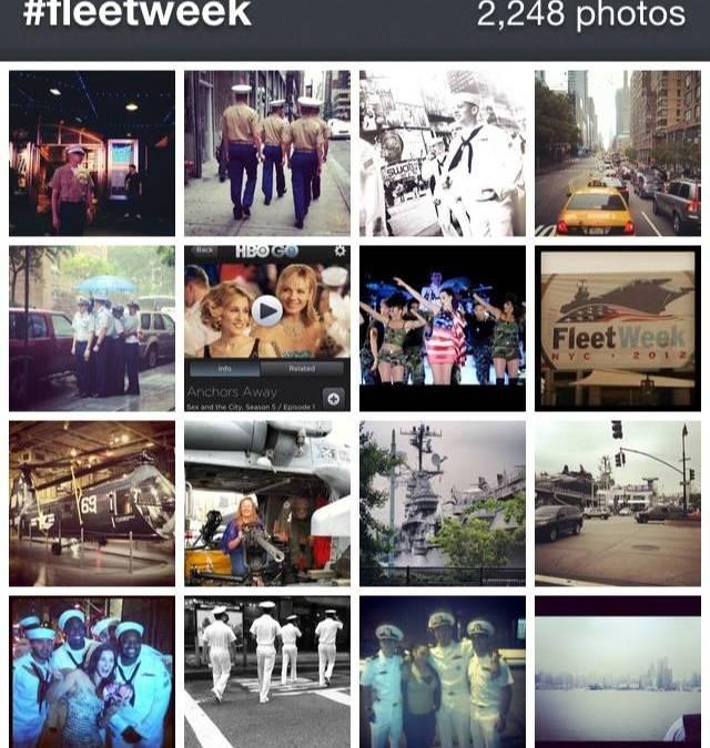 Celebration of Fleet Week New york in Instagram.