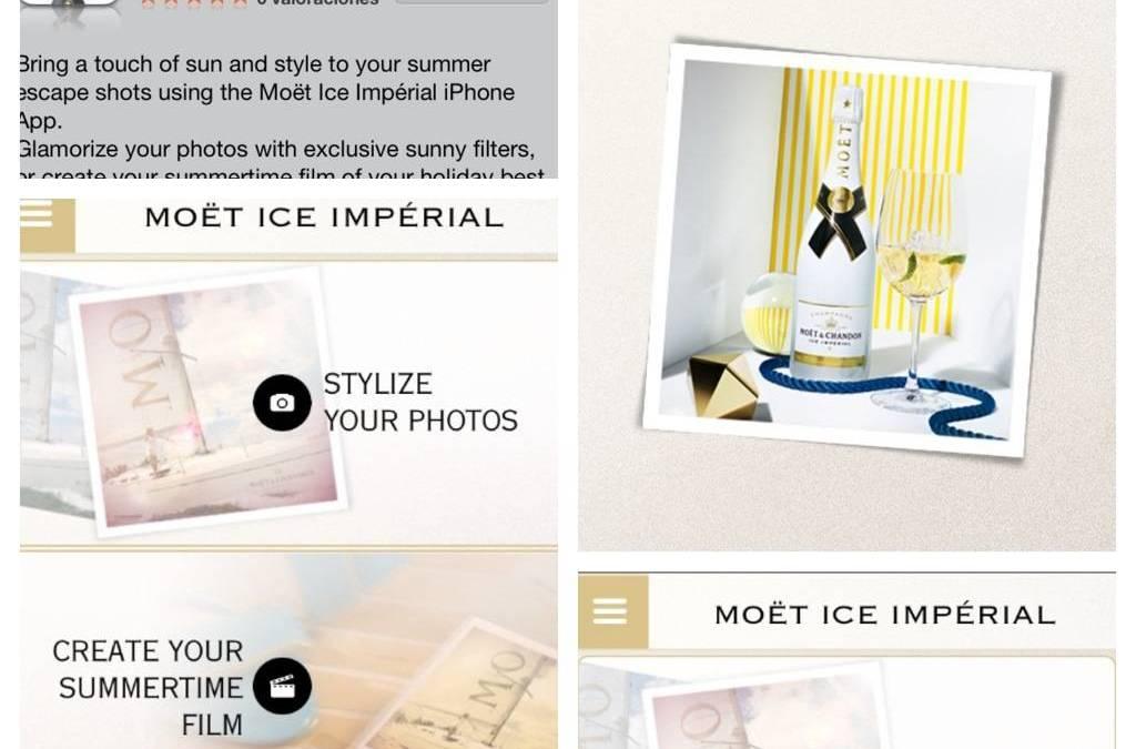 Presentación de la Moët Chandon Ice Imperial la app de edición de fotos más glamurosa