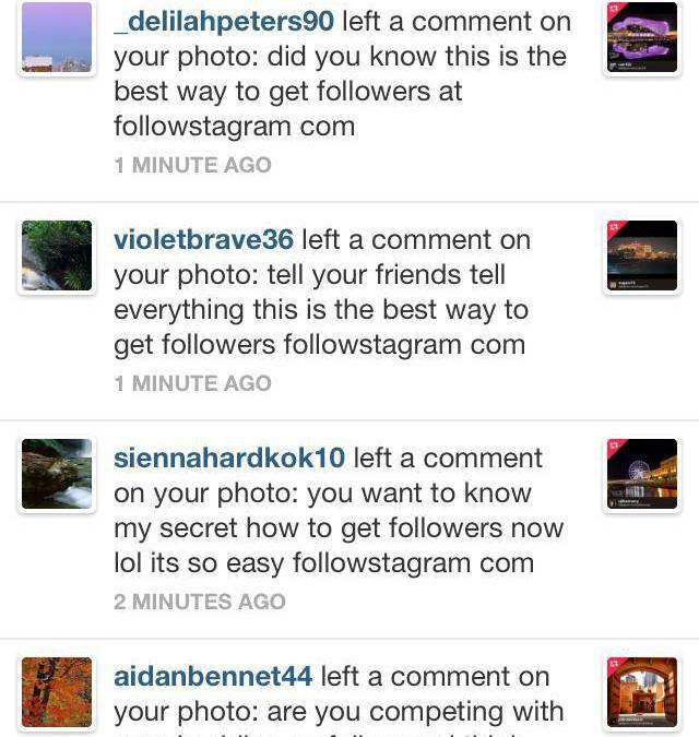 How to avoid spam on instagram?