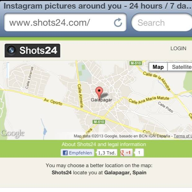 Shots24 Find easily users and photos around you on Instagram