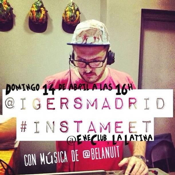 Instameet igersMadrid in La Latina with DJ @belanuit!