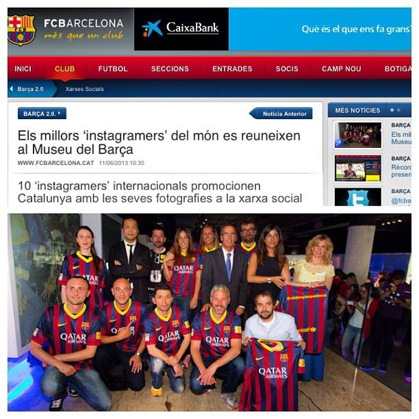 10 Instagramers visiting FC Barcelona Museum during Catalunya Experience Second Edition