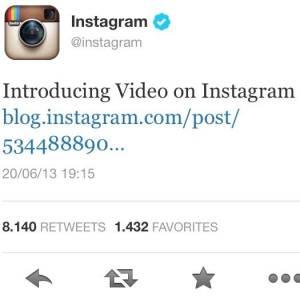 instagram video announcement