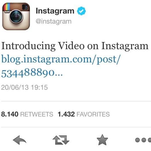 Bienvenida al Video en Instagram