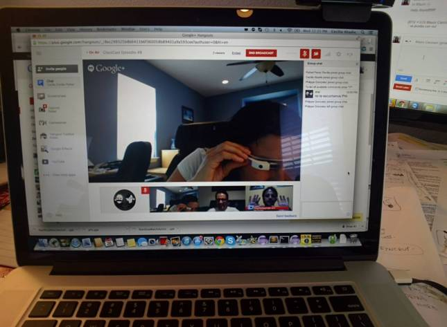 hang out sobre google glass