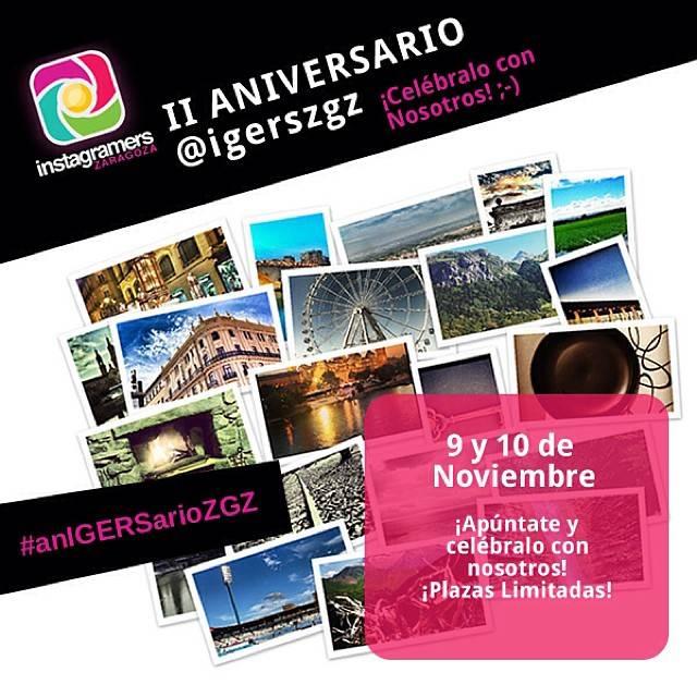 Segundo anigersario Instagramers Zaragoza!
