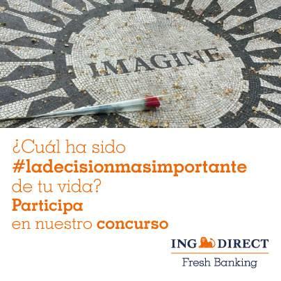 #ladecisionmasimportante de tu vida te puede ayudar a ganar hasta 2.000 euros con ING DIRECT en Instagram